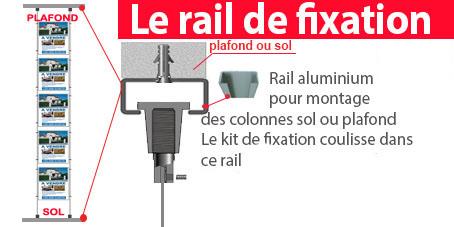 En option le rail de fixation pour faciliter la pose de vos colonnes et déplacer vos colonnes