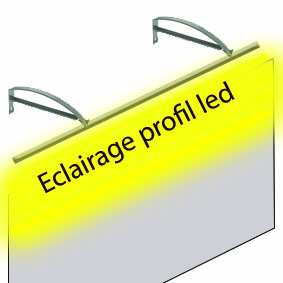1.Eclairage rampe tube led