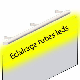 Eclairage rampe tube led