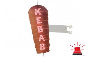 Enseigne kébab à leds avec clignoteur