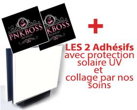 Avec 2 adhésifs + protection solaire UV