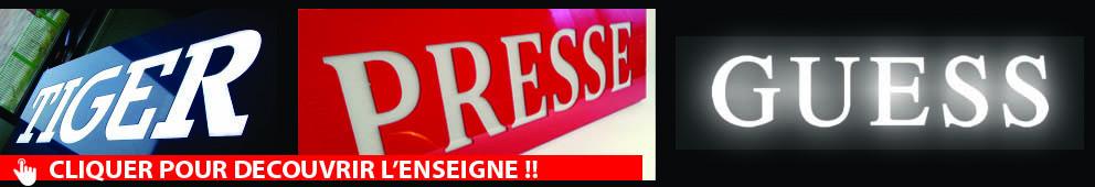 Vous souhaitez éclairer vos lettres reliefs non lumineuses , opter pour l'éclairage Vénus