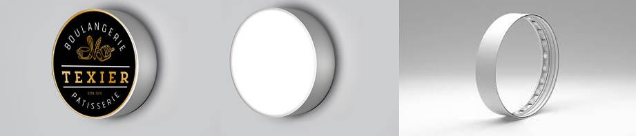 Les caissons ronds lumineux ou non lumineux