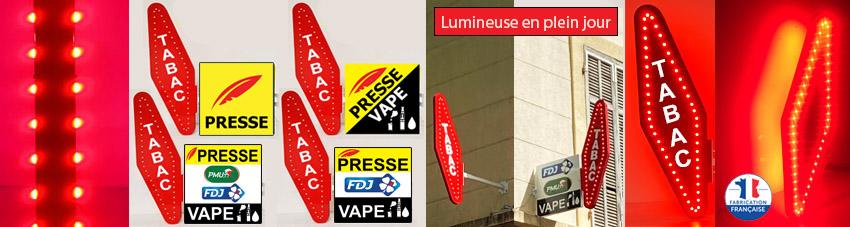 Carotte de tabac faible consommation lumineuse avec ou sans le mot tabac ( clignoteur en option)