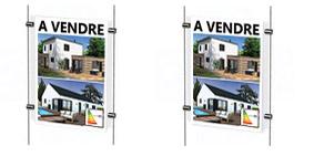 Porte-affiches vitrine