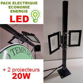 Option kit éclairage Réf : 3 ou 4