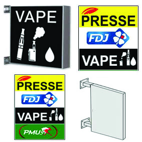 Enseigne Tabac Presse Vape FDJ PMU