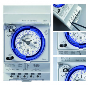 Horloge journalière programmable pour enseigne ou éclairage