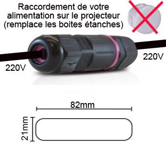 Raccordement simple projecteur