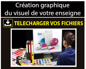 Création graphique du visuel enseigne